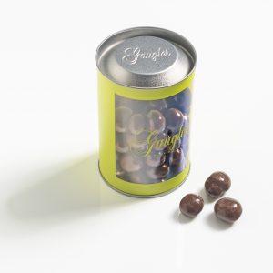 cacahuètes enrobées au chocolat au lait