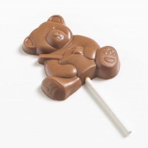 sucette ourson au chocolat au lait au caramel
