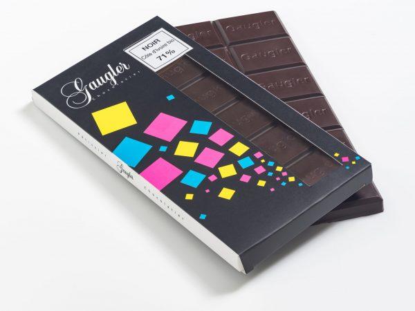 Tablette au chocolat Noir Côte d'Ivoire Bio 71% de cacao