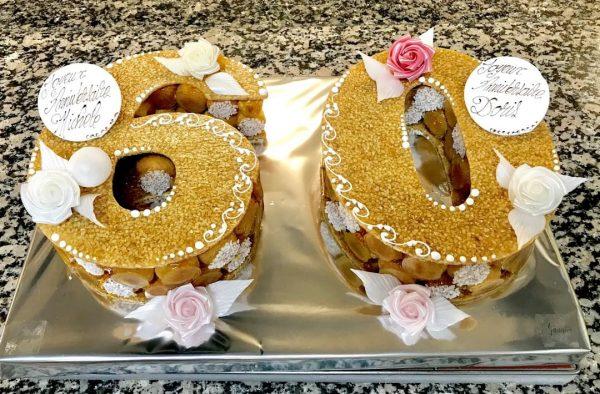 gâteau d anniversaire number choux